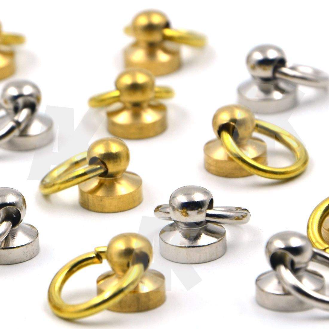Brass Round Head Rivet studs screw O Ring Nail Spiles Leather craft Punk Spots