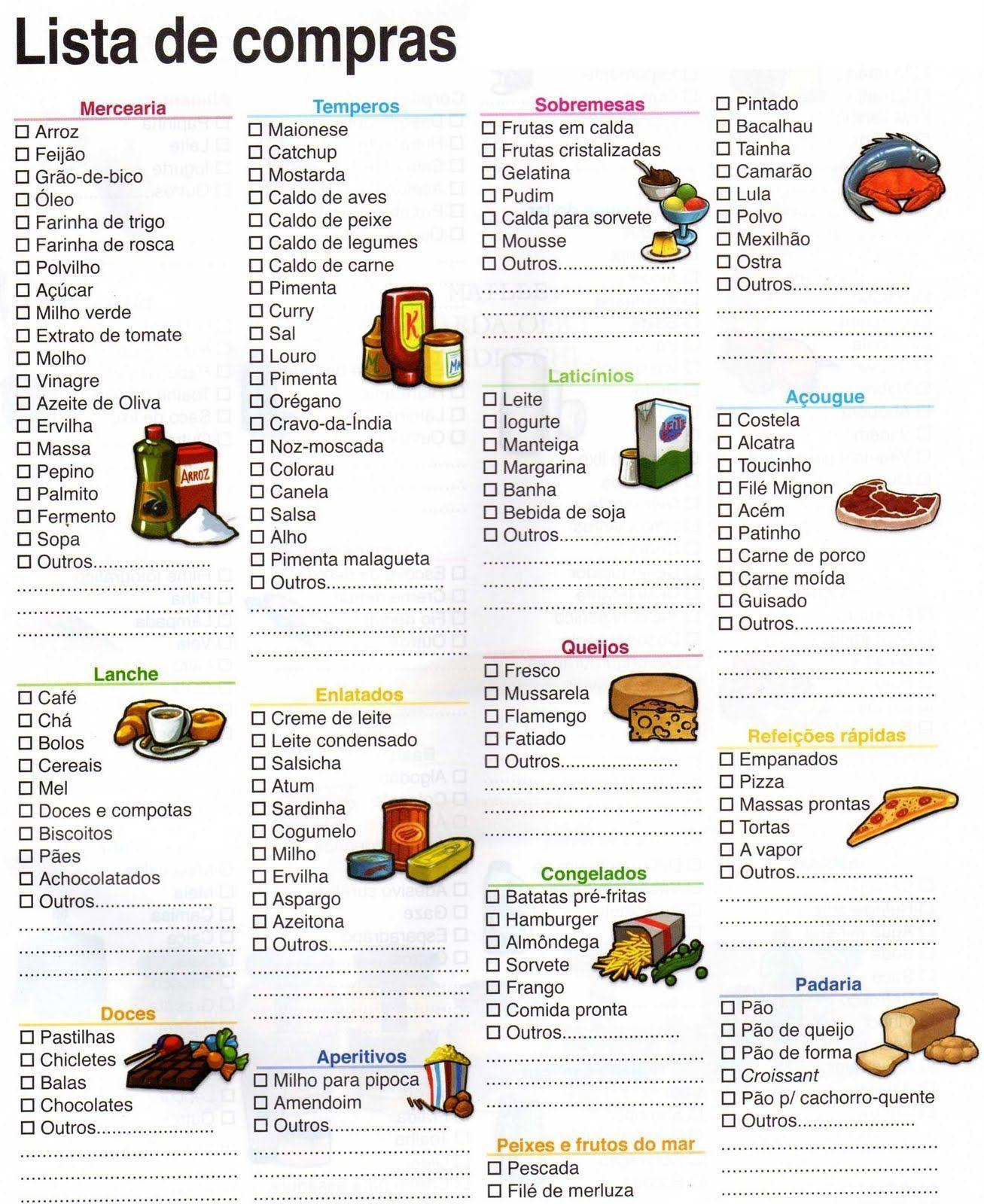 Lista De Compras De Supermercado Pesquisa Google Compras Ropa