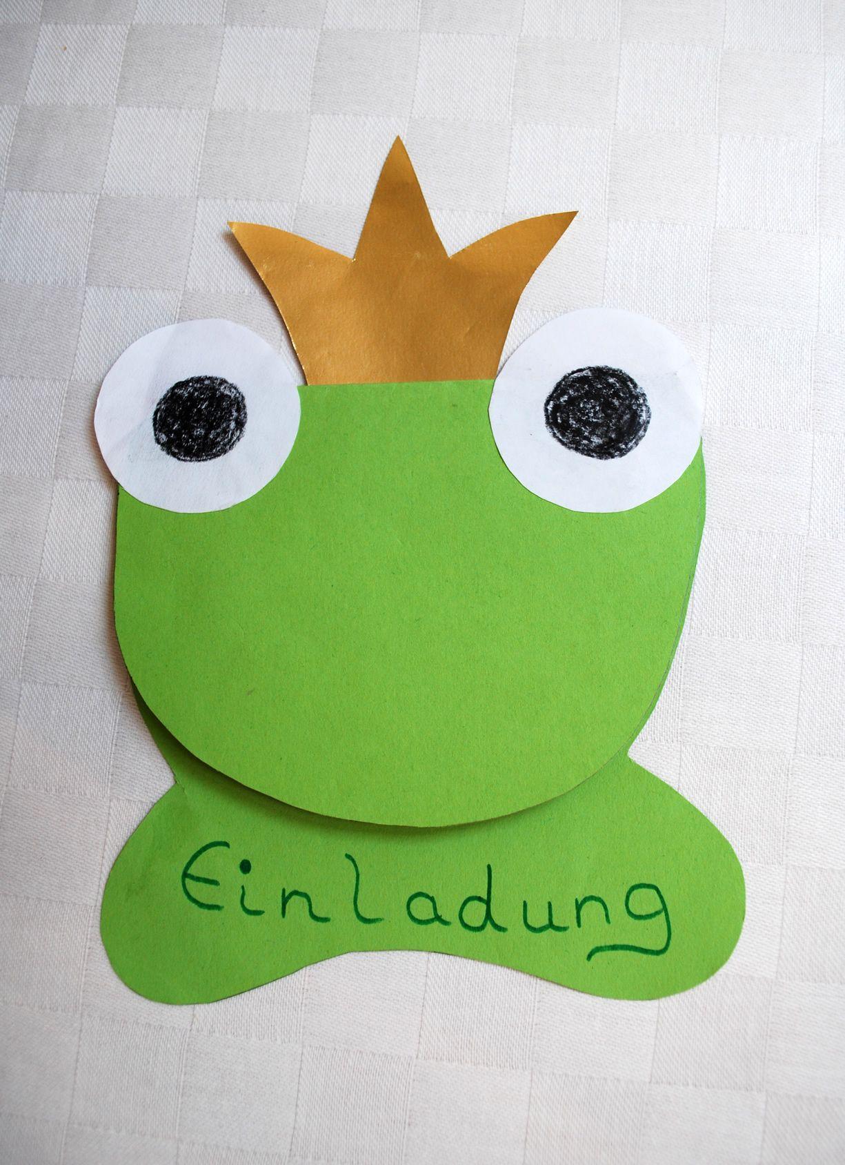 Einladungskarten 60 Geburtstag Basteln: Einladung Froschkönig