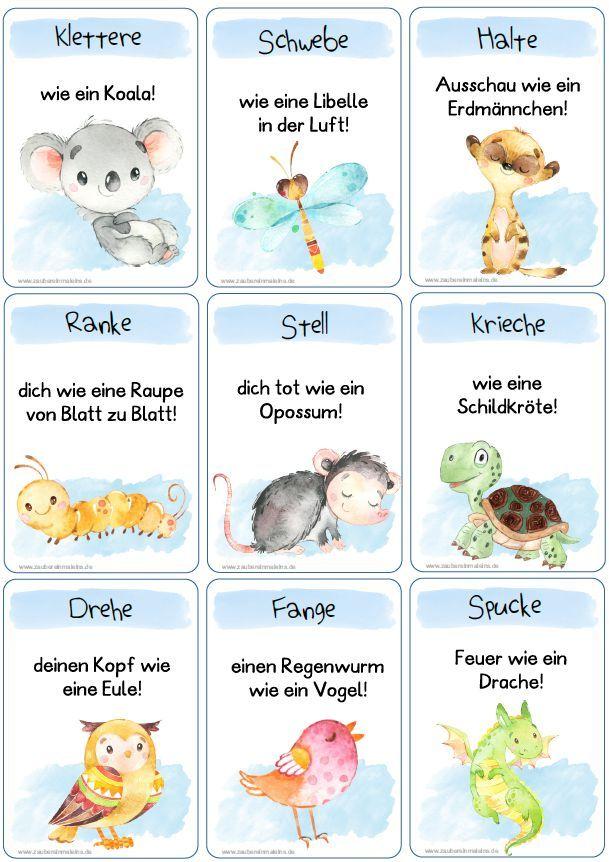 44 X Tierischer Bewegungsspass Turnen Im Kindergarten Zaubereinmaleins Bewegung Fur Kinder