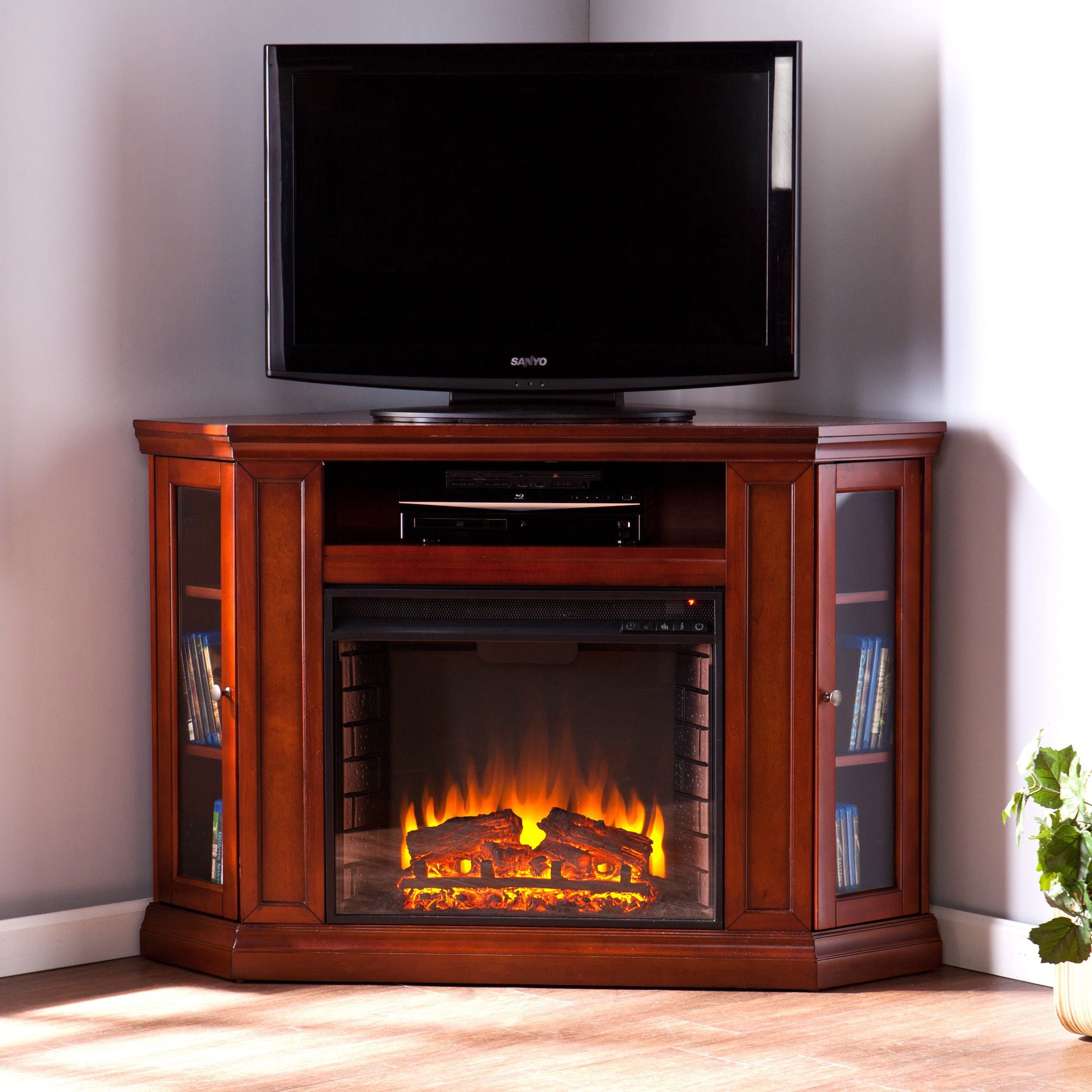 harper blvd belvedere mahogany media console electric fireplace rh pinterest co uk