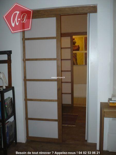 Chambre avec deux séparations de panneaux en #porte #japonaise