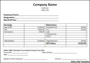 Salary Slip Template  Az Templates