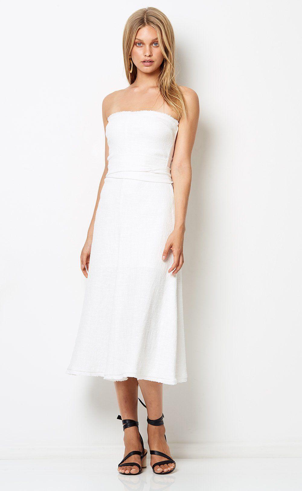 6ef563186 CATALINA AVE MIDI DRESS - IVORY – Bec + Bridge   Clothes   Dresses ...