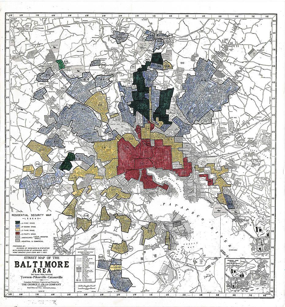 "Baltimore ""redlined"" map, 1937 Imagine, Tales"