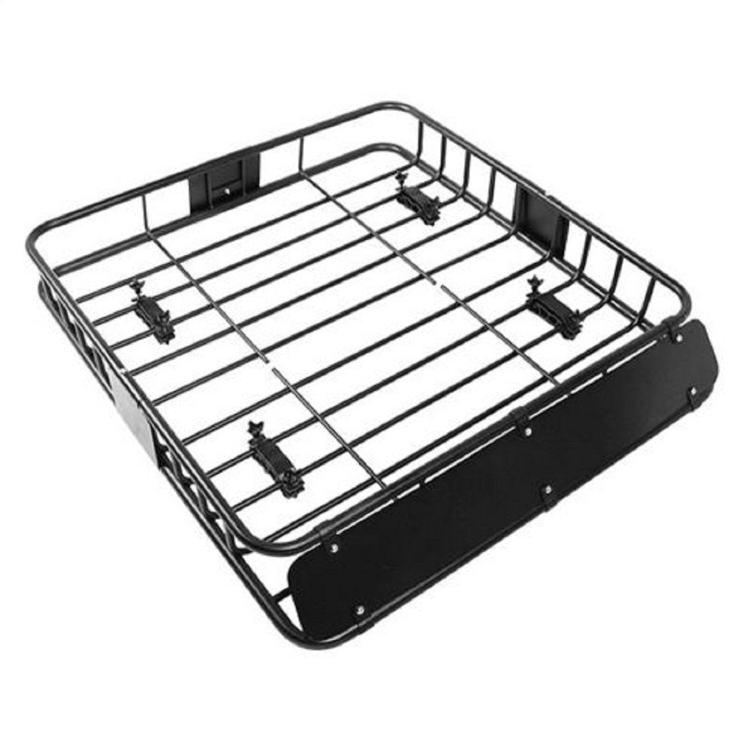 New Black Universal Roof Rack Cargo Car Top Luggage Holder Carrier Basket Travel Suv Material Heavy Duty Steel With Kayak Storage Rack Top Luggage Roof Rack