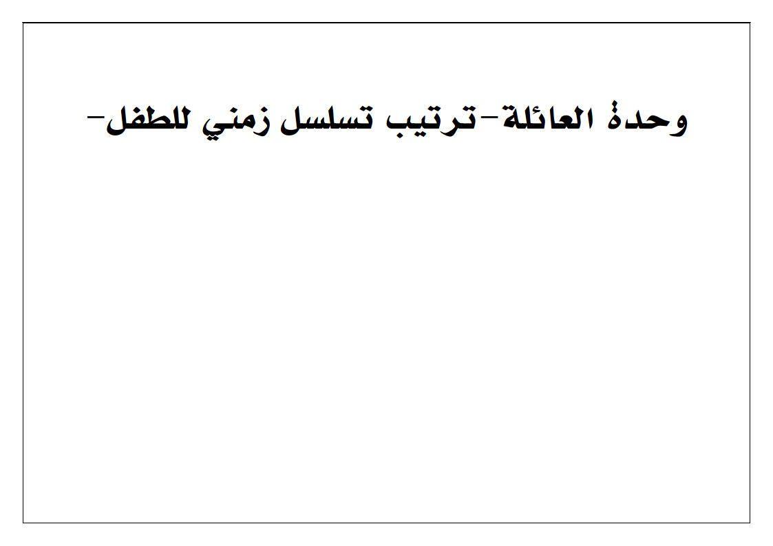 نشاط ترتيب التسلسل الزمني للطفل بطريقة بسيطة وممتعة Math Arabic Calligraphy