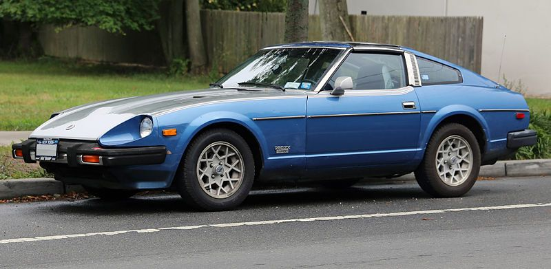 Datsun 280zx Turbo In Blue And Silver