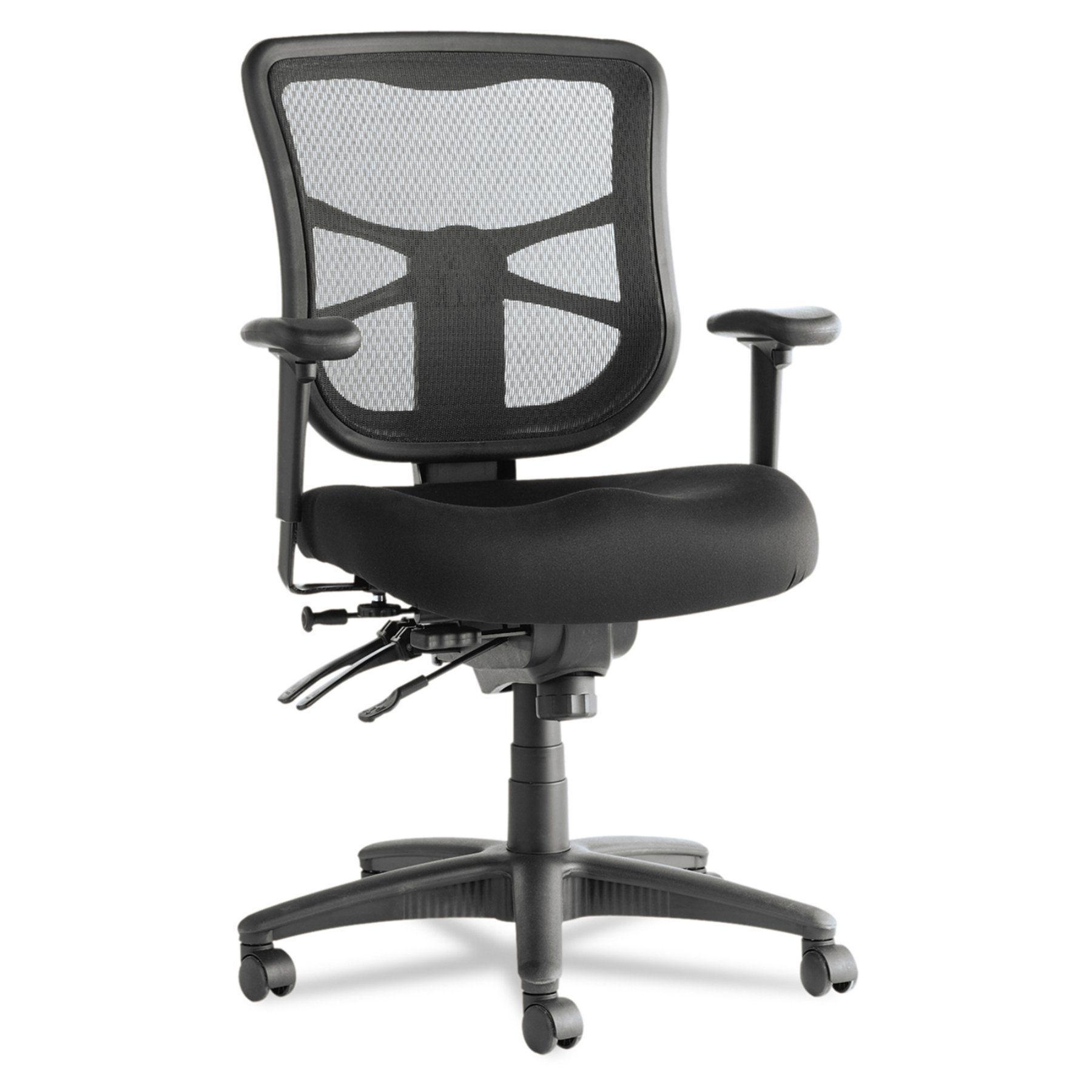 Alera Elusion Series Mesh Mid Back Multifunction Chair Black Alera Best Ergonomic Office Chair Chair