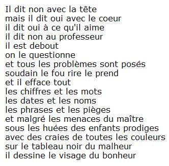 Le Cancre Jacques Prévert Citation Poeme Et Citation Et