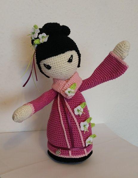 Häkelanleitung Geisha *SAKURA* japanische Puppe | Pinterest ...
