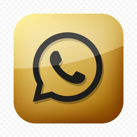Hd Whatsapp Luxury Black Gold Square Icon Png