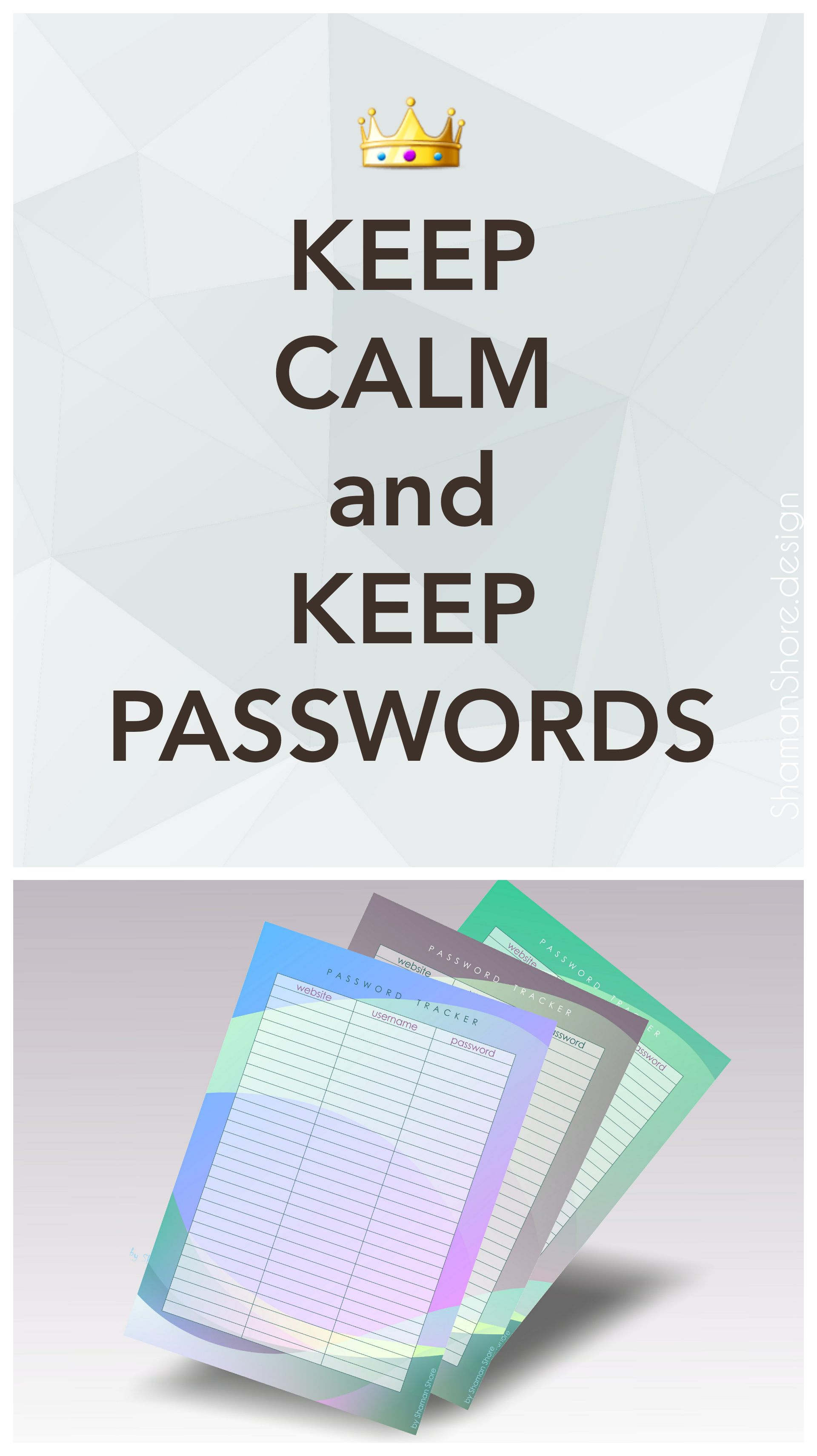 Shshprintables Password Keeper Printable Password Organizer