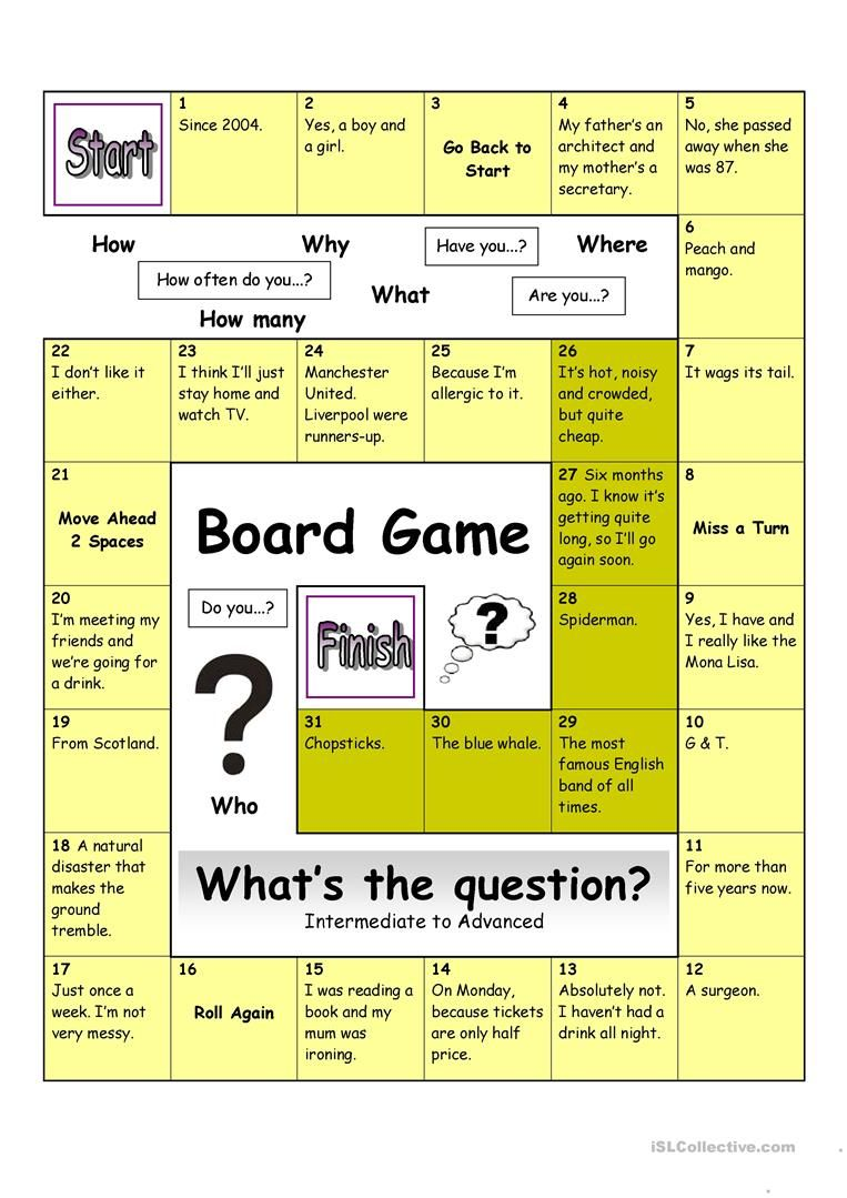 Board Game What S The Question Hard Speaking Games Board