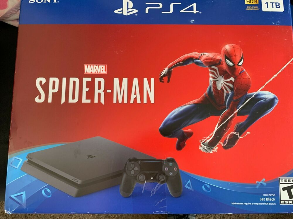 Sony PlayStation 4 Slim 1TB Black Gaming Console NO Spider-Man