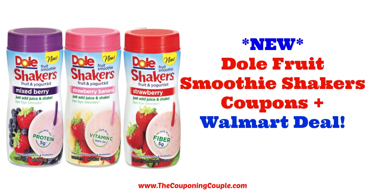 New Dole Fruit Smoothie Shakers Coupons Walmart Deal Smoothie