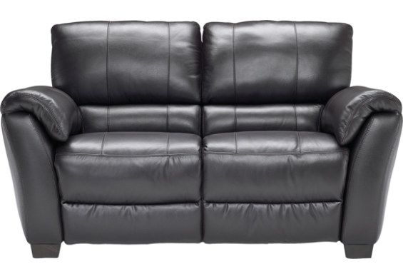 Nero Colorado Dark Brown Genuine Leather Reclining Loveseat Leather Reclining Loveseat Love Seat Small Furniture