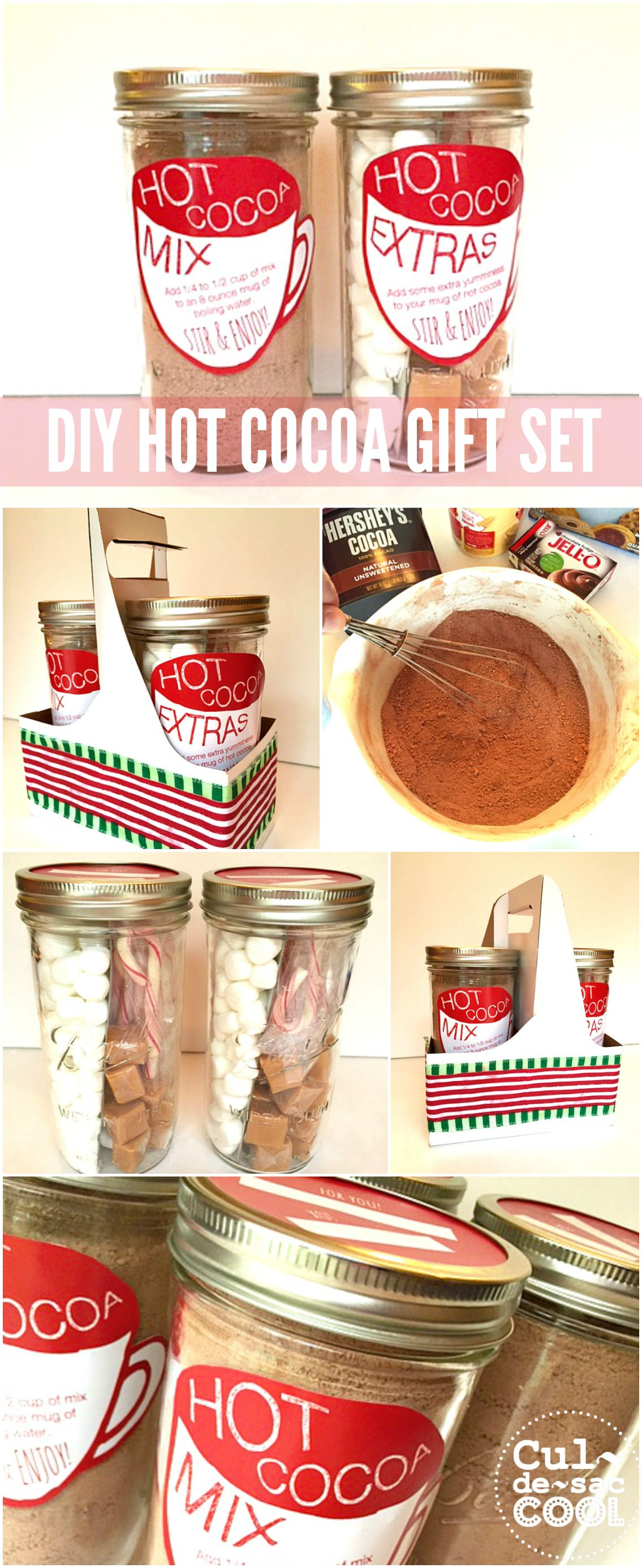 Diy Hot Cocoa Gift Set In A Jar Perfect Easy Holiday Not