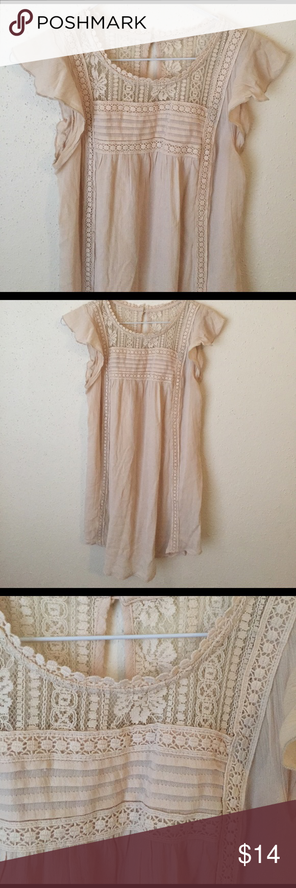 Cream top Size M. Cream. Long cut. Perfect condition. Tops