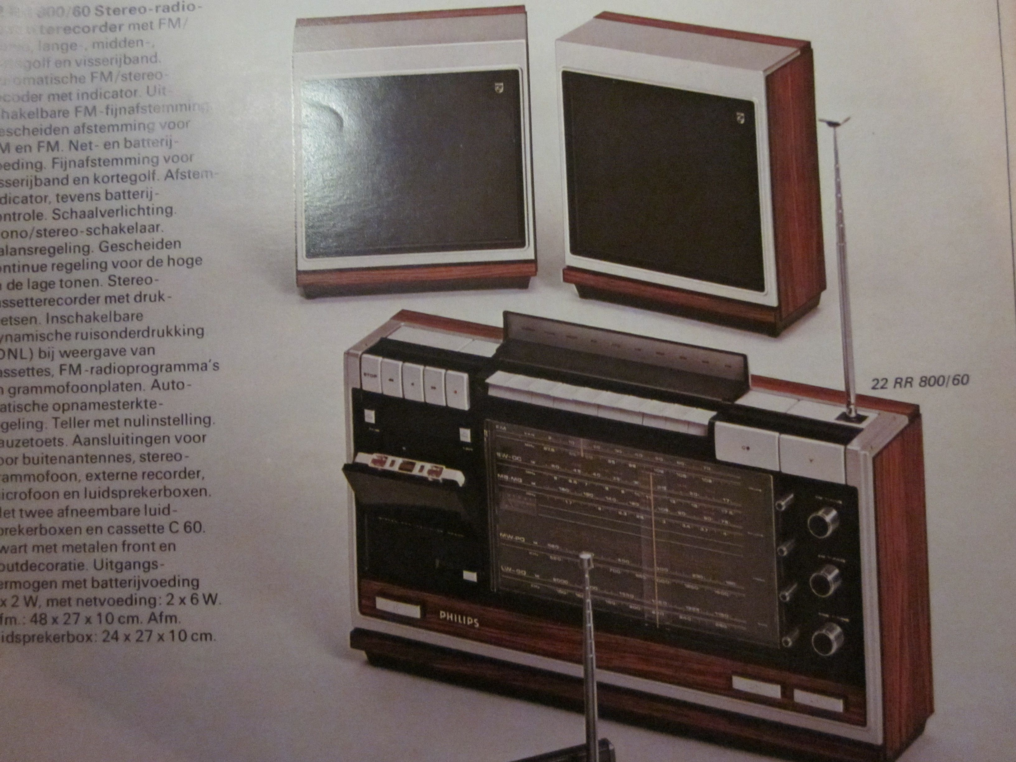 1972 in fact the first ghetto blaster Hoog laag