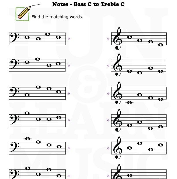 Bass Clef Worksheets | Free Music Worksheets Blog Worksheets Games ...