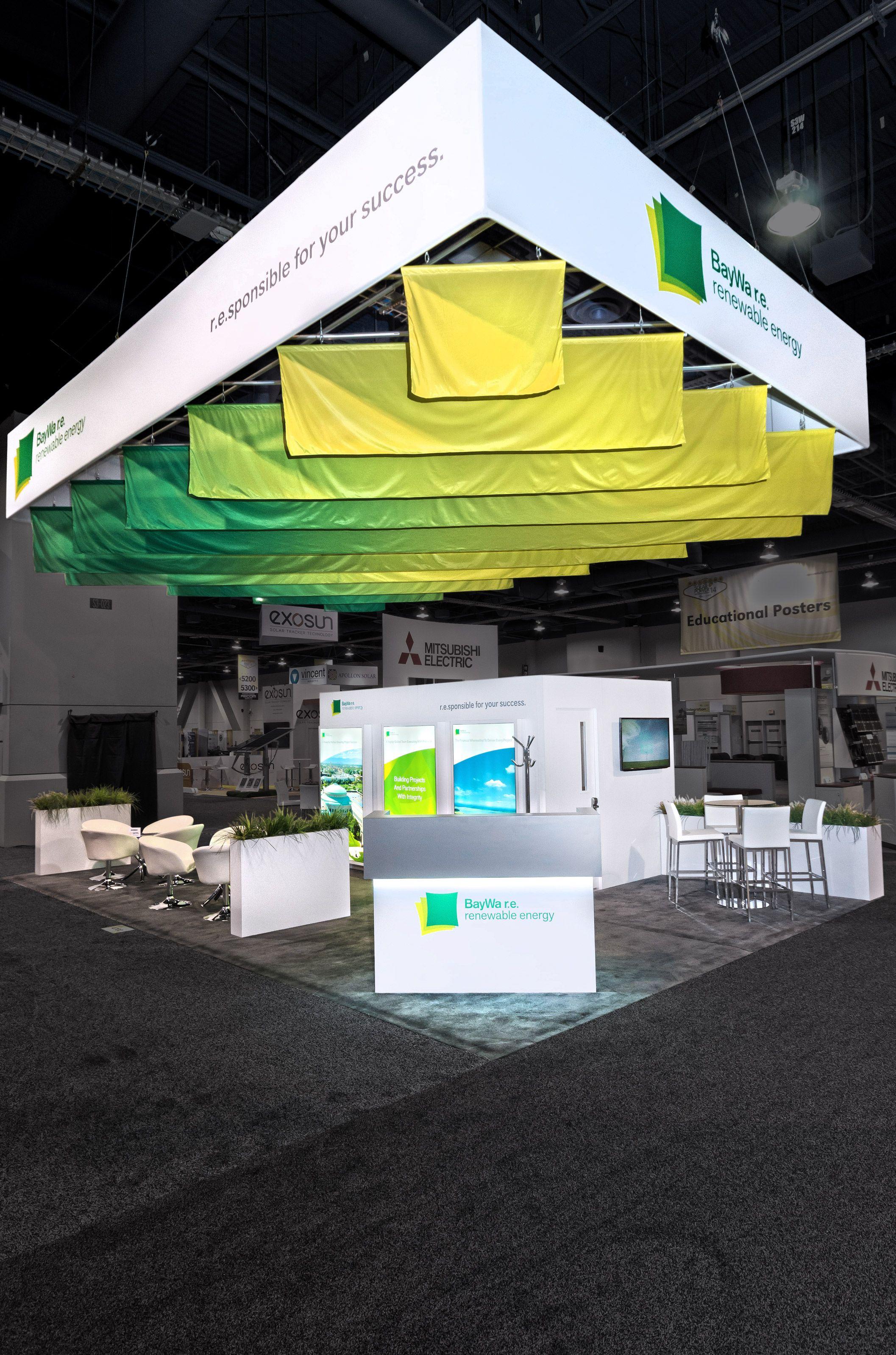Design Exhibitions 2014 baywa.r.e. #booth design @ spi show 2014. #design & #fabrication