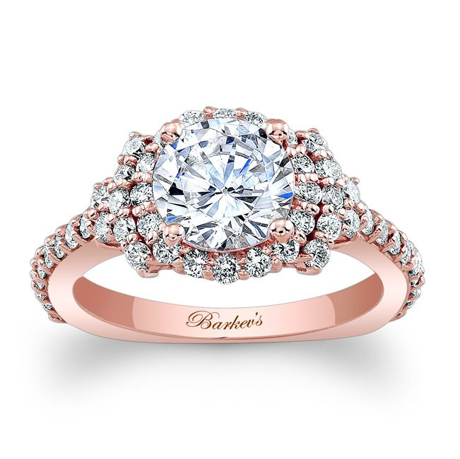 Stunning rose gold engagement ring from Barkev's http://www.barkevs.com