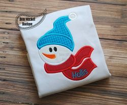 Sam Snowman Applique - 5 Sizes! | What's New | Machine Embroidery Designs | SWAKembroidery.com Beau Mitchell Boutique