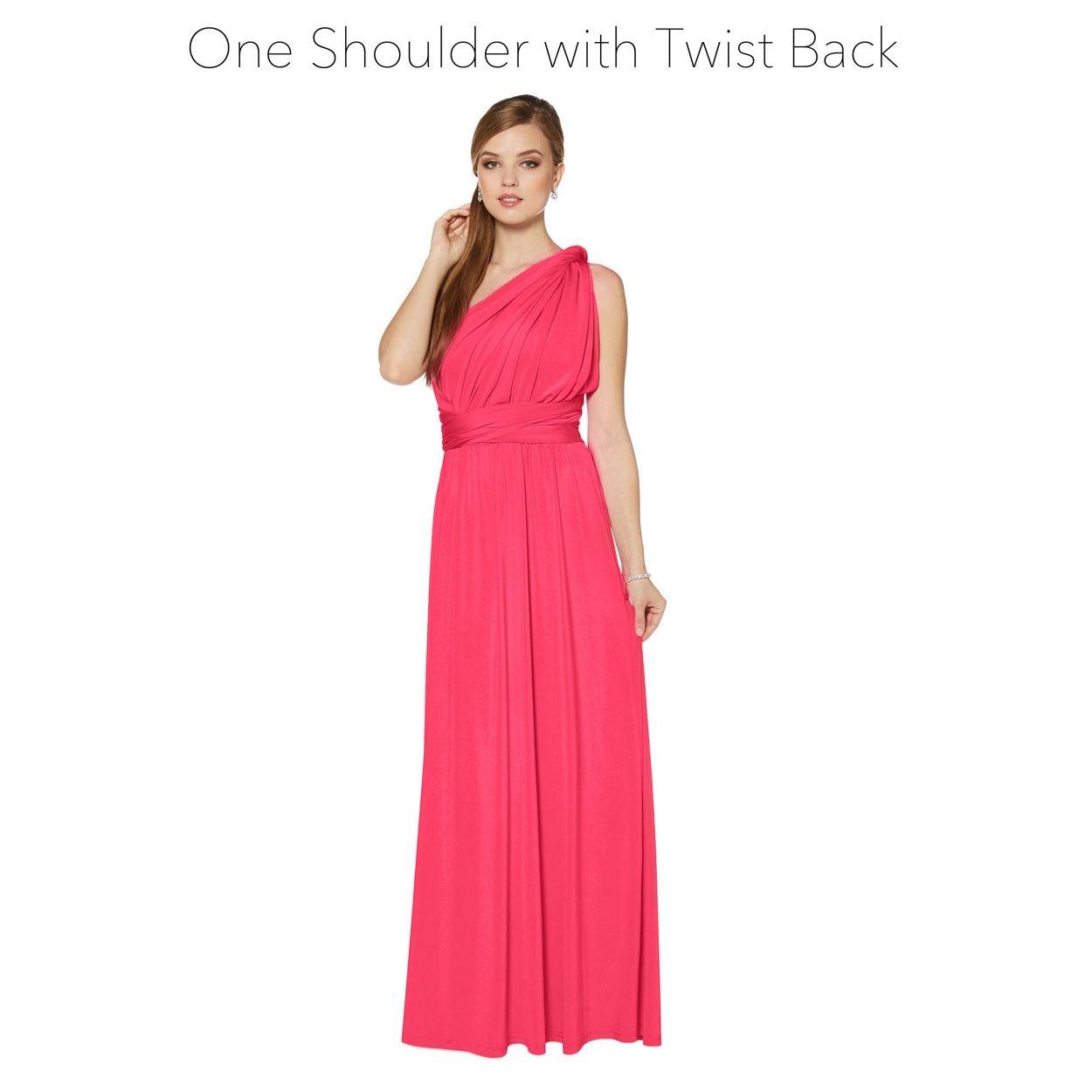 Debut Pink Pleated Multiway Maxi Dress- At Debenhams.com