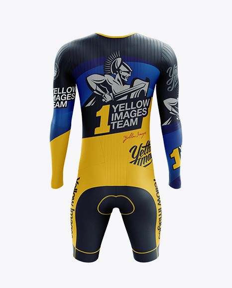 Download Men S Cycling Speedsuit Ls Mockup Back View In Apparel Mockups On Yellow Images Object Mockups Clothing Mockup Design Mockup Free Shirt Mockup