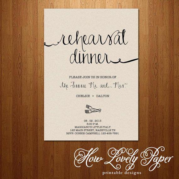 Printable Rehearsal Dinner Invitation Wedding Ideas Pinterest - printable dinner invitations