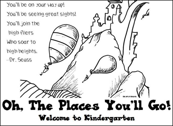 Oh The Places You Ll Go Coloring Page Welcome To Kindergarten