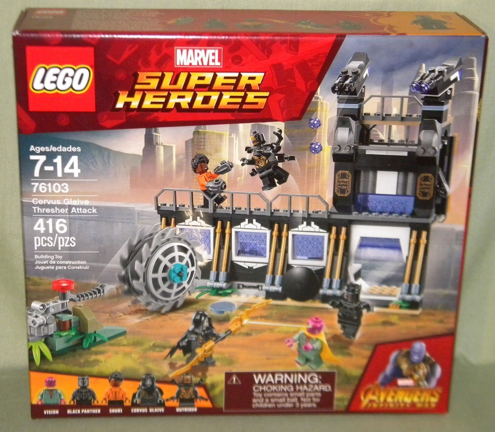 Corvus Glaive Thresher Attack Avengers Infinity War Lego 76103 Vision Panther Corvus Glaive Lego Marvel Superheroes Marvel