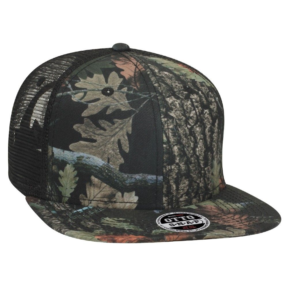 OTTOCAP 153-1208 - Camouflage Superior Polyester Twill Square Flat Visor  Pro Style Mesh Back 33d67ab91ce0