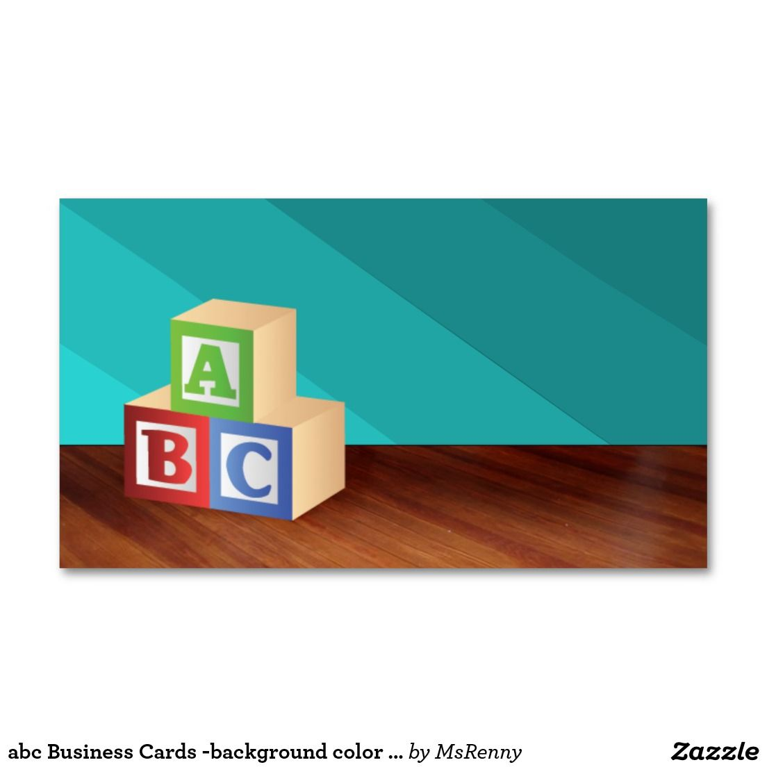 abc Business Cards -background color changeable | Daycare Supplies ...