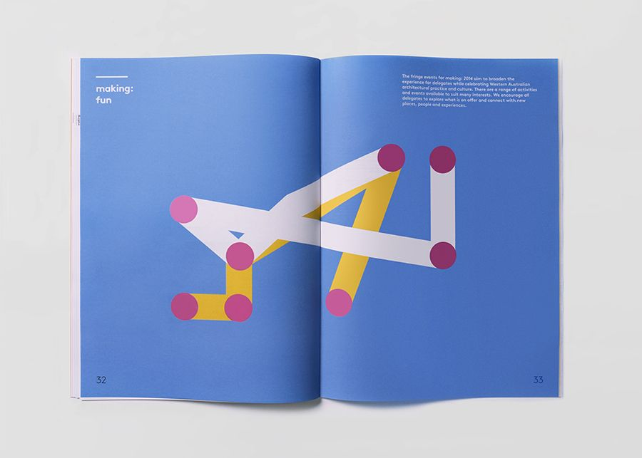 Print designed by Garbett for the Australian Institute of Architects' 2014 conference Making
