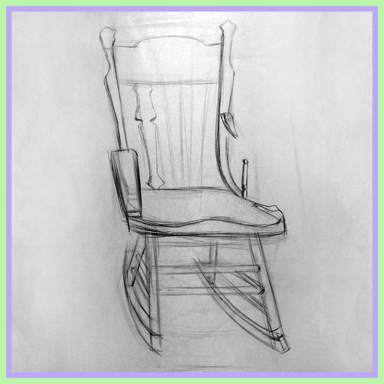45 Reference Of Rocking Chair Drawing Easy In 2020 Chair Drawing Rocking Chair Easy Drawings