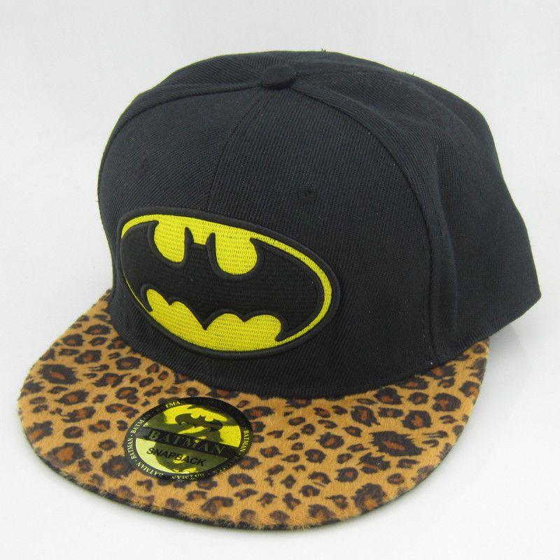 New batman hiphop  Black Gray Snapback Adjustable Cosplay baseball cap hat flat