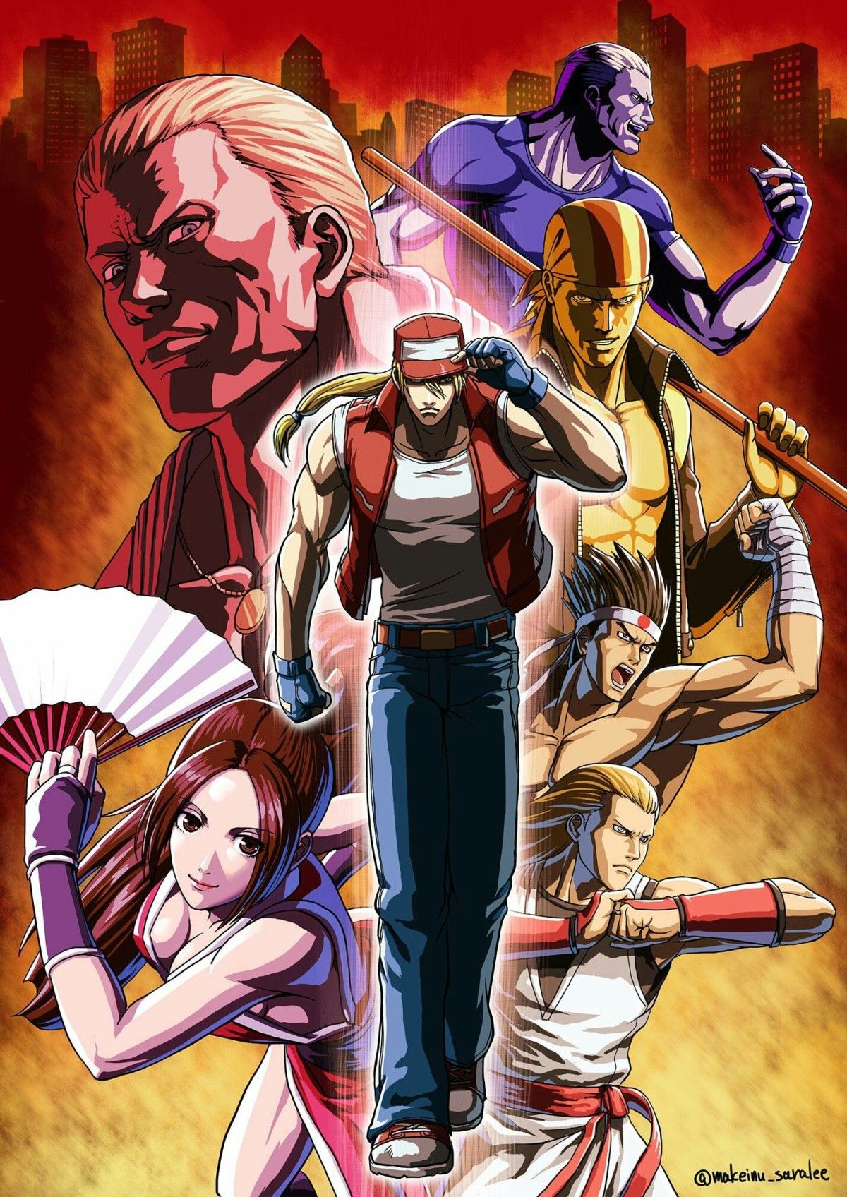 Fatal Fury Poster In 2020 King Of Fighters Street Fighter Characters Art Of Fighting