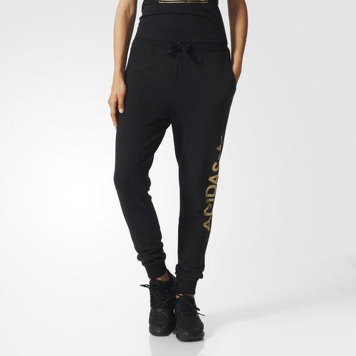 Pantalon de de survêtement Baggy Logotipo de Gold adidas Essentials Baggy noir adidas 98f38e9 - grind.website