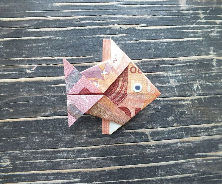 Fisch Falten Aus Geldschein Einfache Anleitung Geburtstag