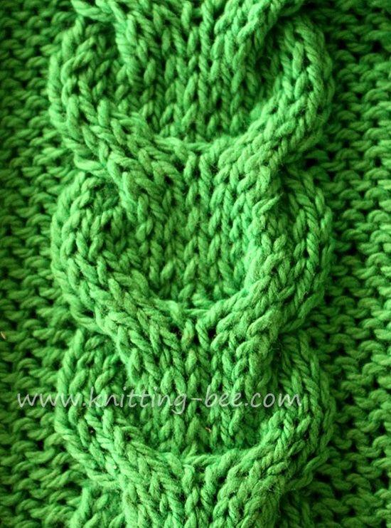 Free Link Cable Knitting Stitch Pattern Tejido Palitos