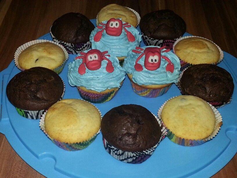 Geburtstagsmuffins Cupcakes Sebastian die Krabbe  Naschktzchen