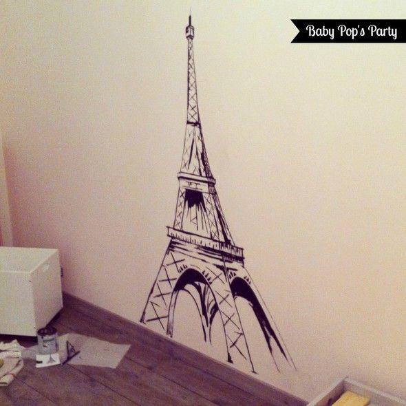 Décoration Chambre Enfant Tour Eiffel Hand Made Www - Eiffel chambre de la tour des idees de decoration