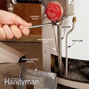 How To Fix A Water Heater Pilot Light Leak Repair Home Repair