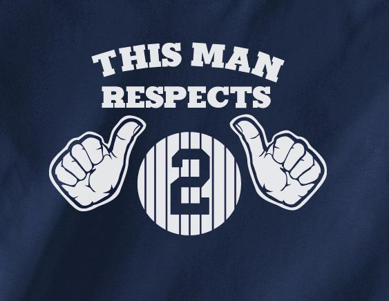 Navy Funny This Man Loves Respects Derek Jeter #2 NY New York Yankees Baseball Tee Tshirt T-Shirt