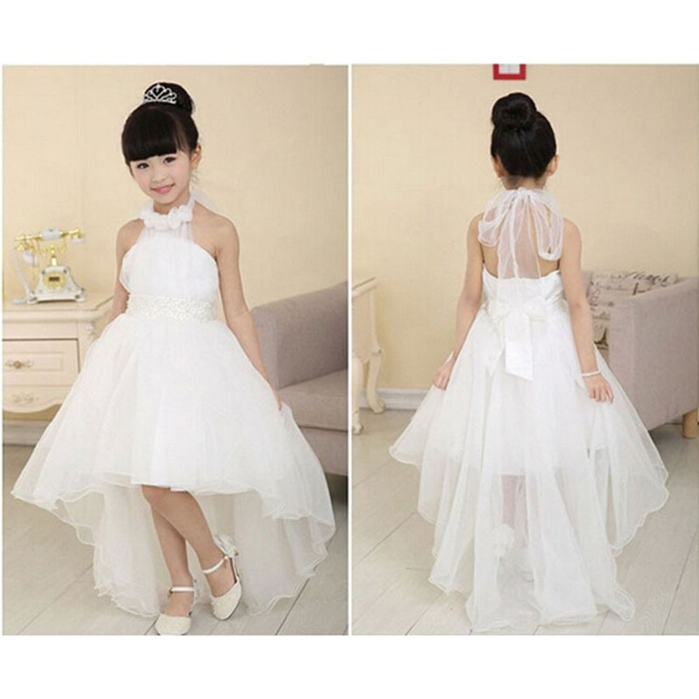 New flower girl princess dress kid party pageant wedding new flower girl princess dress kid party pageant wedding bridesmaid tutu dresses in clothing shoes accessories kids clothing shoes accs ombrellifo Choice Image