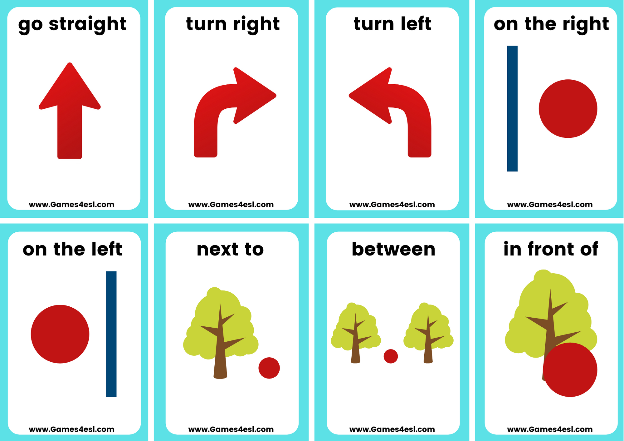 Directions Flashcards