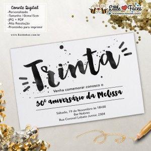 Convite Aniversario 30 Anos Para Imprimir Convite De Aniversario