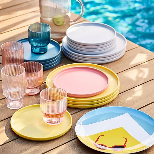 Modern Melamine Dinnerware Acrylic Glassware Melamine Dinnerware Outdoor Dinnerware